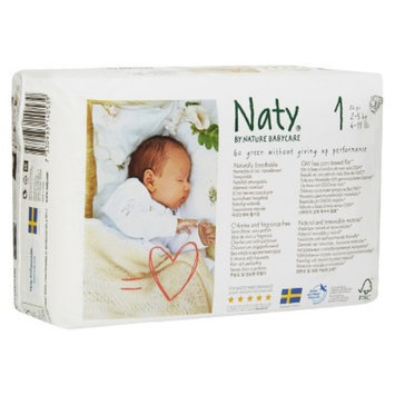 Naty by Nature Babycare Nature Babycare Eco-Friendly Baby Diapers Case - Size 1 (104 Count)