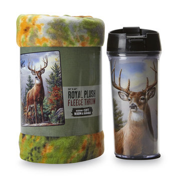 The Northwest Company Travel Mug & Fleece Throw - Deer