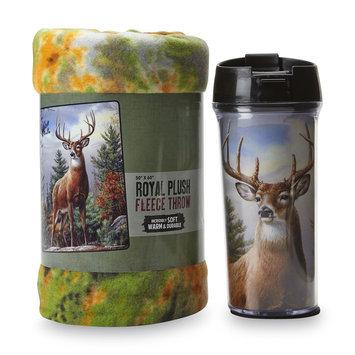 The Northwest Company Travel Mug & Fleece Throw - Deer