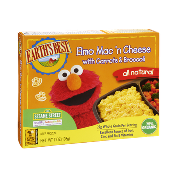 Earth's Best Elmo Mac 'N Cheese with Carrots & Broccolli Frozen Entree