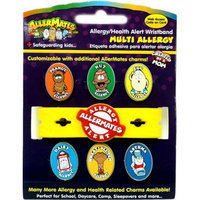AllerMates Multi-Allergy Awareness Wristband [Includes Asthma Charm]