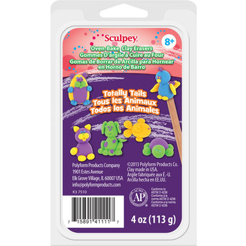 Polyform Products Company Eraser Clay Set 1oz 4/Pkg Totally Tails