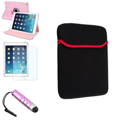 Insten INSTEN Light Pink 360 Rotating Leather Case Cover+Stylus/Pouch For Apple iPad Air 5 5th