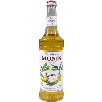 Monin Flavored Syrup, Banana, 33.8-Ounce Plastic Bottle (1 liter)