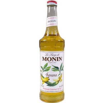 Monin Flavored Syrup, Banana, 33.8-Ounce Plastic Bottle (1 liter)