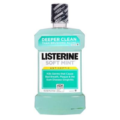 LISTERINE Antiseptic Mouthwash, Soft Mint, 50 fl oz