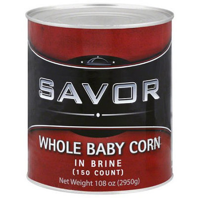 Generic Savor Whole Baby Corn in Brine, 108 oz, (Pack of 6)