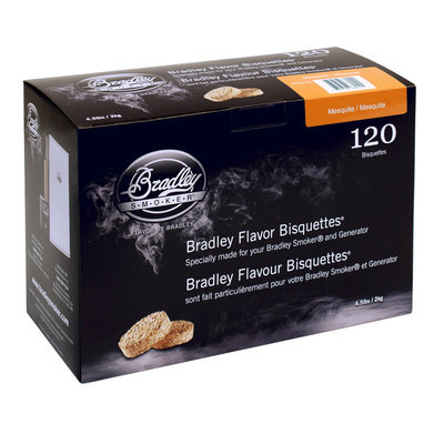Bradley Smoker Mesquite Bisquettes - 120 Pack