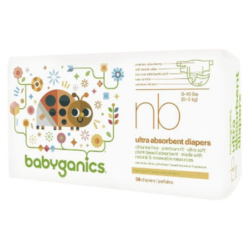 BabyGanics Disposable Diapers Size Newborn (36 Count)
