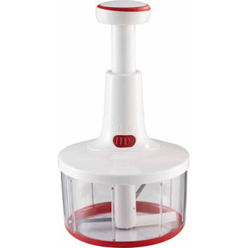 LEIFHEIT Leifheit Twist Cut Manual Food Processor and Whip, White and Red