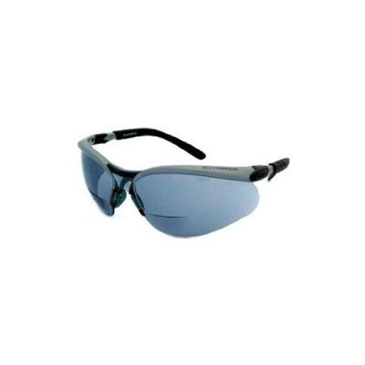 Aearo AO Safety Aearo- AO Safety Glasses BX Readers Silver/black Lens - Gray, +2.0