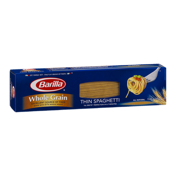 Barilla Pasta Whole Grain Thin Spaghetti