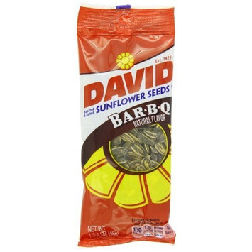 DAVID Seeds David Sunflower Seeds, Barbecue, 1.625-Ounce Unpriced Tubes (Pack of 12)