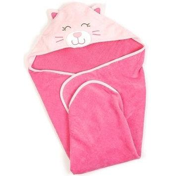 Carter's Cat Hooded Baby Bath Towel - Pink