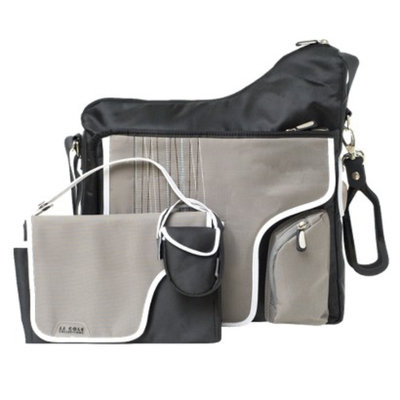 JJ Cole System 180 Diaper Bag - Black Stitch