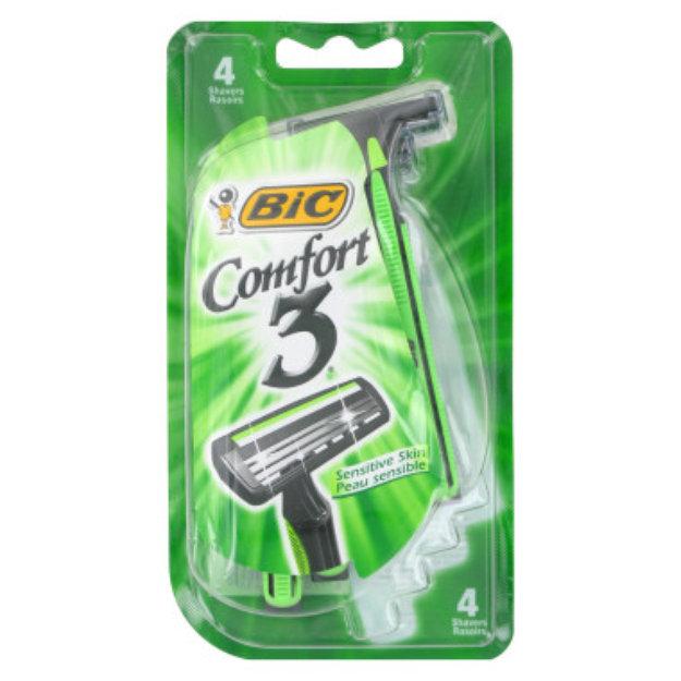 BIC Comfort 3 Razors - Sensitive Skin, 4 ct
