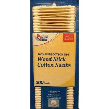 Sound Body Wood Stick Cotton Swabs 300 Count