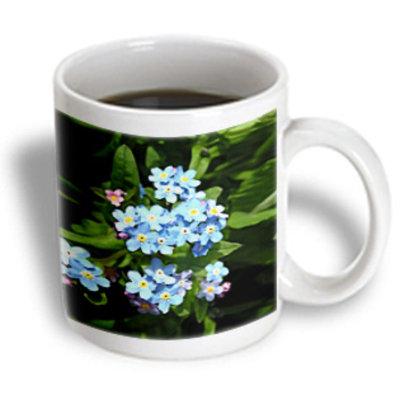 Recaro North 3dRose - Flowers - Forget me not - 11 oz mug