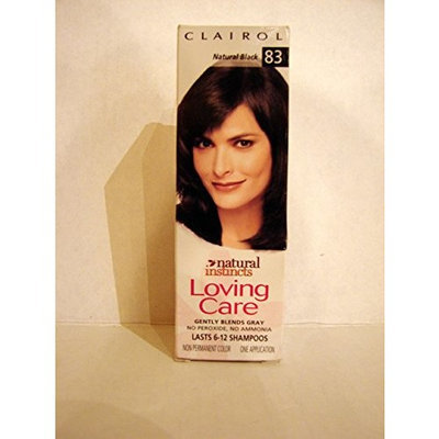 Clairol Loving Care, Hair Color Creme Lotion 83, Natural Black - 3 OZ, 1 ea