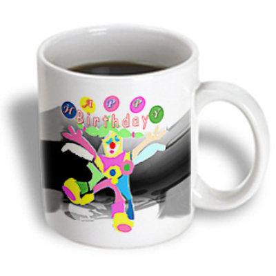 Recaro North 3dRose - Birthday - Happy Birthday clown around - 15 oz mug