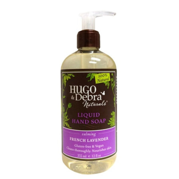 Hugo & Debra Naturals Liquid Hand Soap, French Lavender, 12 fl oz