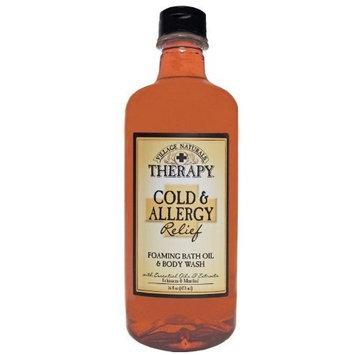 Village Naturals Therapy Cold & Allergy Liquid Mineral Bath 16 fl oz