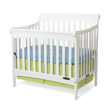 Foundations Worldwide, Inc. Child Craft Ashton Mini 4-in-1 Convertible Crib in Matte White