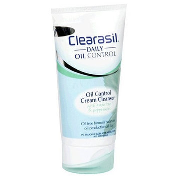 Clearasil Daily Oil Control Cream Cleanser, With Green Tea and Peppermint, (5 fl oz)