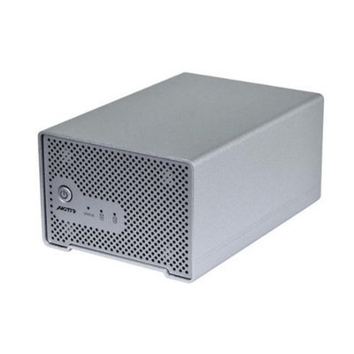 Monoprice Dual Bay Thunderbolt™ 2 Cactus Bridge Enclosure with Cable - Silver