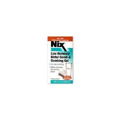 Nix Lice Removal Combing Gel With Comb and Metal Comb - 2 Oz