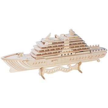Puzzled 1515 Luxury Yacht 3D Natural Wood Puzzle - 71 Pieces