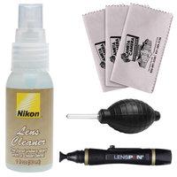 Nikon Lens Cleaner Fluid Spray Bottle (1oz/30ml) with Blower + Lenspen + 3 Cleaning Cloths for D3100, D3200, D5100, D5200, D600, D800, D4 Digital SLR Cameras