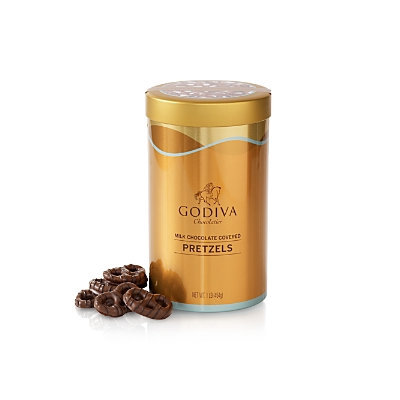 Godiva Milk Chocolate Pretzel Tin