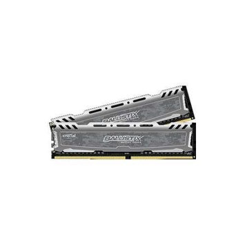 Crucial Technology Ballistix Sport 16GB (2x 8GB) 288-Pin UDIMM DDR4 (PC4-19200) Desktop Memory Module Kit, CL=16, Unbuffered, 2400 MT/S Speed, NON-ECC, 1.2V, 1024Megx64