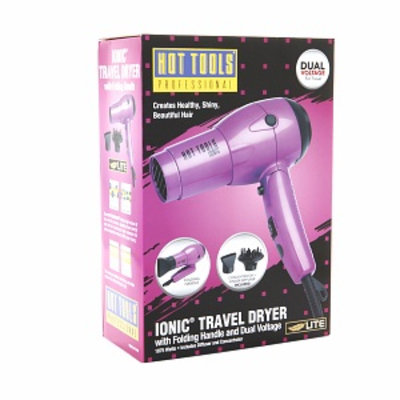 Hot Tools Hot Ionic Travel Dryer with Folding Handle and Dual Voltage