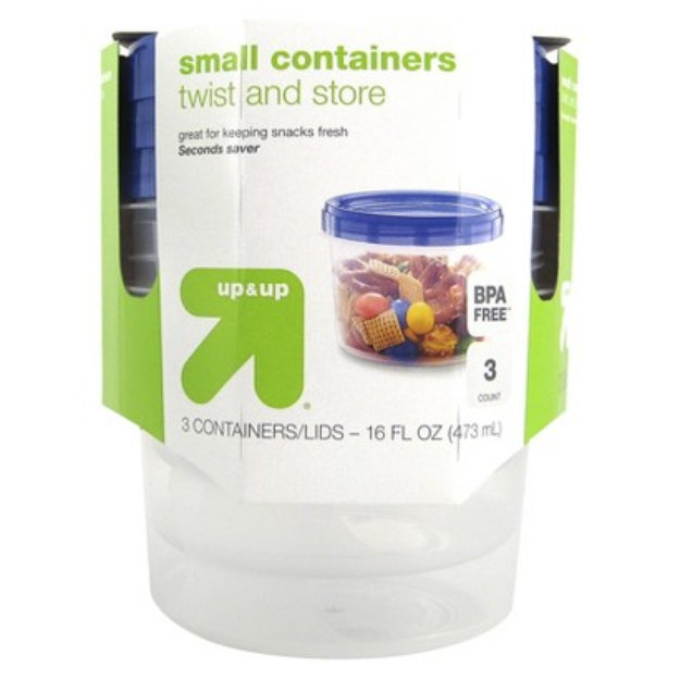 up & up Twist and Store Small Containers with Lids 16 oz 3 ct