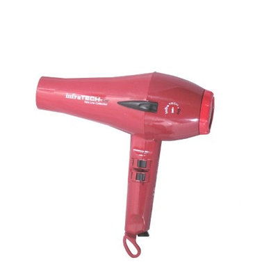Farouk It0007 Infratech By Chi Trimline Tourmaline Porcelain Hair Dryer, Red Sparkle