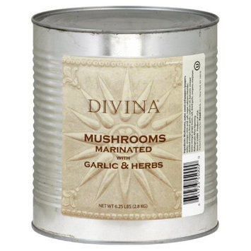 Divina Mushroom Marinaded with Garlic Herb, 6.25-Pound Can
