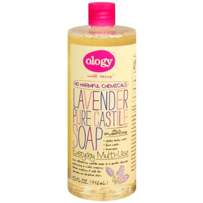 Ology Pure Castile Liquid Soap, Lavender, 32 oz