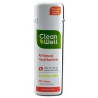 Clean Well All Natural Hand Sanitizer Spray, Orange Vanilla, 1 oz, CleanWell