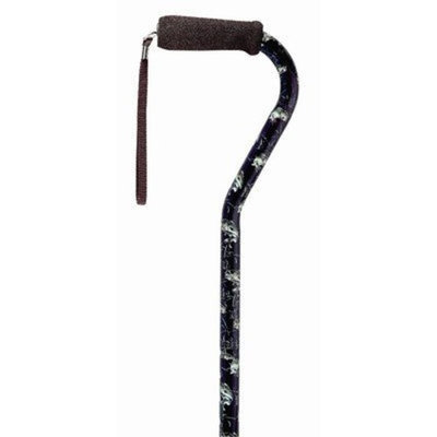 Medbasix Offset Single Point Cane Color: Bass