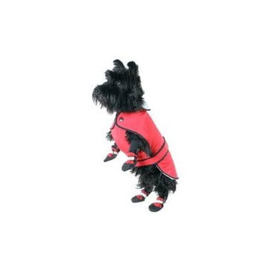 Muttluks 3-Layer Belted Winter Dog Coat, Size 28, Red