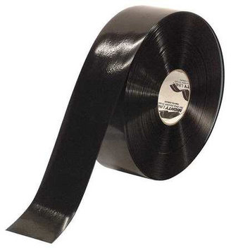 Mighty Line Industrial Floor Tape (Roll, Black, Vinyl). Model: 3RBLK