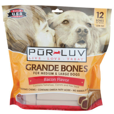 Pur LuvTM Grande Bones Dog Treat