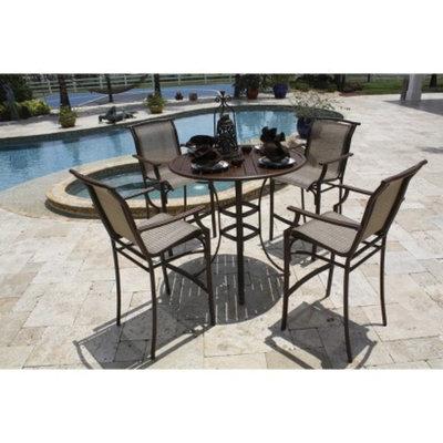 Panama Jack Chub Cay 5-Piece Sling Bar Height Patio Dining Furniture Set