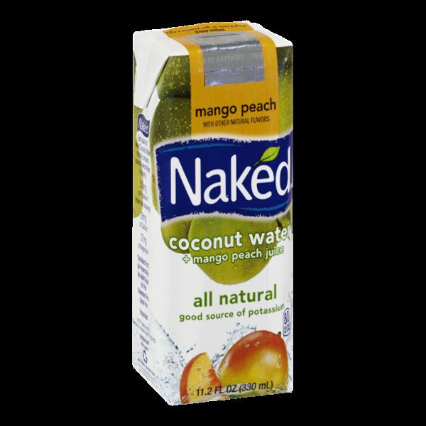 Naked Coconut Water + Mango Peach Juice