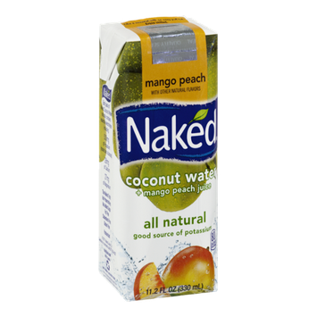 Naked Coconut Water + Mango Peach Juice
