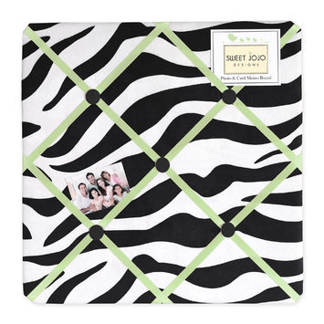 Sweet Jojo Designs Zebra Lime Collection Memo Board