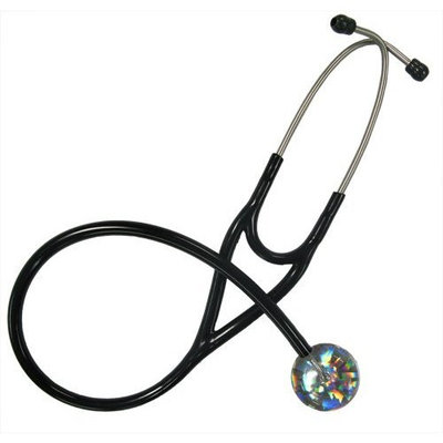 Ultrascope Adult Stethoscope with Black Tubing, Hologram