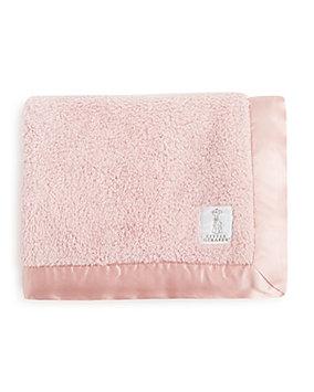 Little Giraffe - Chenille Baby Blanket (Pink) Sheets Bedding